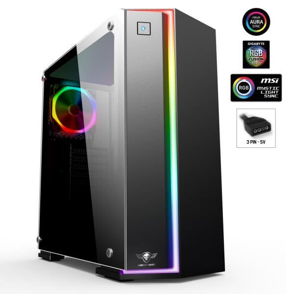 Pc Gamer Intel I9 9900K Geforce Gtx1660 Ti 6Go Mémoire 16Go Disque dur Ssd 240Go + 1To Wif Windows 10 Clone One