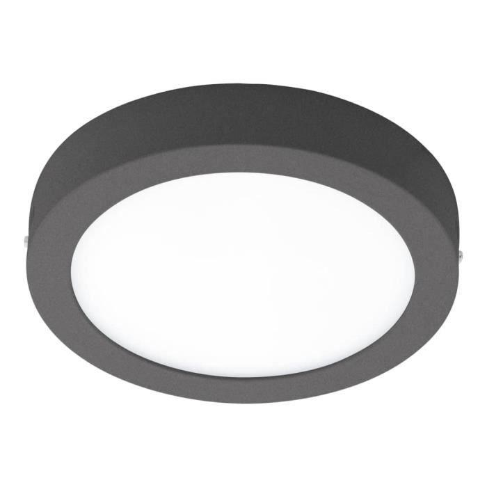 EGLO Applique-plafonnier LED d'extérieur Agrolis-C 16,5 W Rond Noir