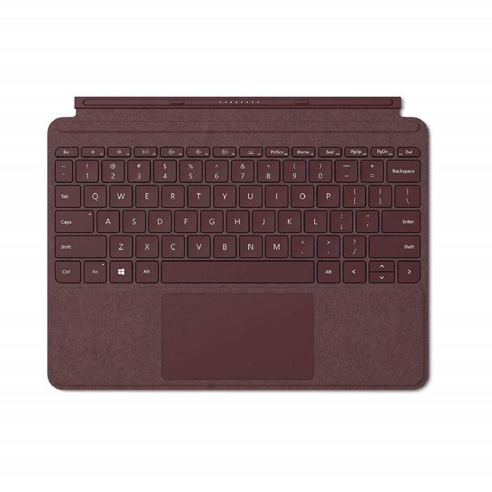 Microsoft Type Cover Signature Surface Go Bordeaux (Alcantara) AZERTY