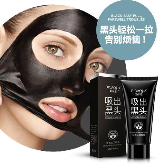 TOPFASHION®Traitements Black Mask Masque Nose Blackhead Remover Peeling Peel Off Blackhead acné