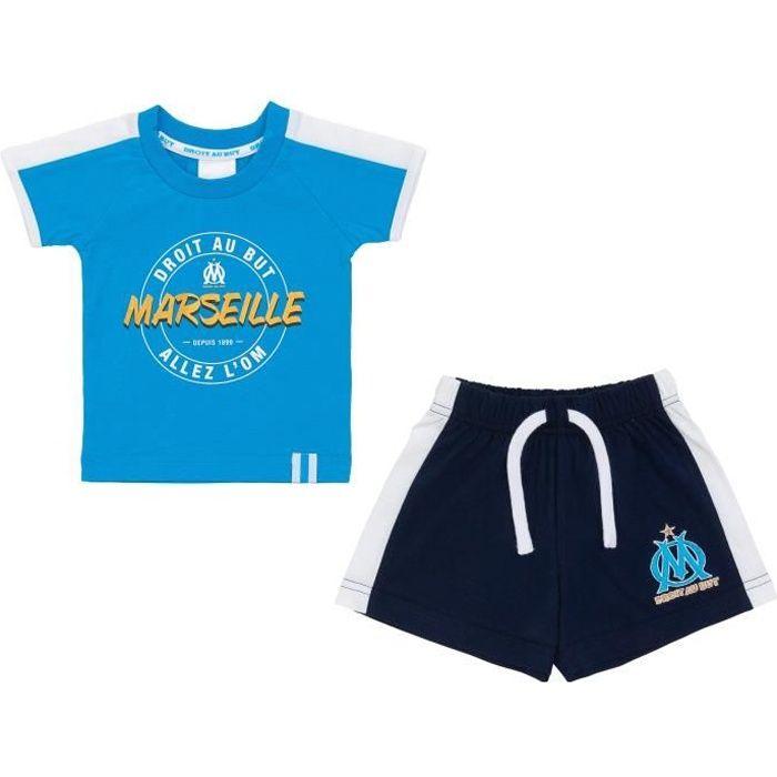 Ensemble t-shirt + short OM - Collection officielle OLYMPIQUE DE MARSEILLE - Bébé