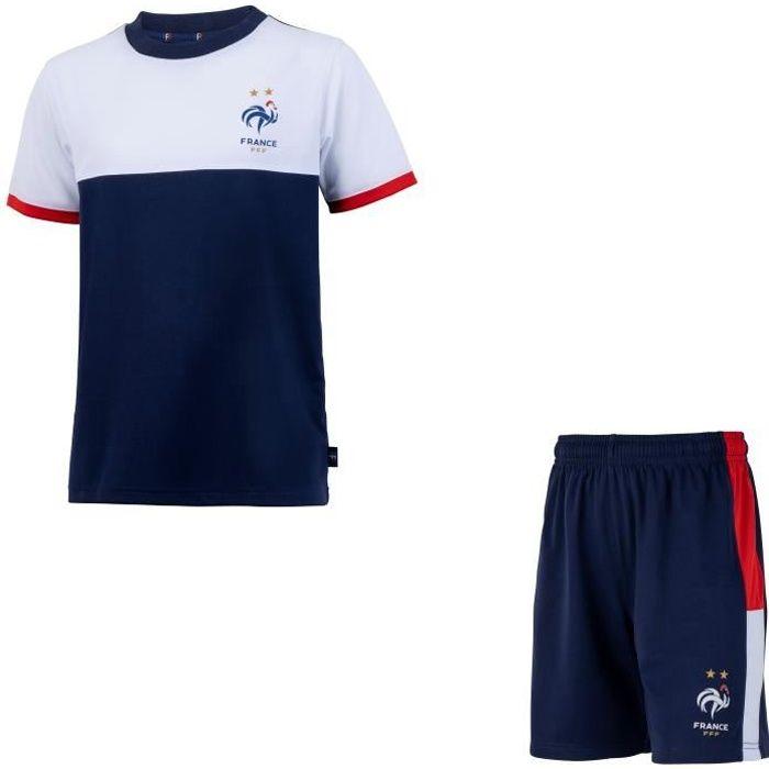Maillot short enfant FFF - Collection officielle Equipe de France de Football