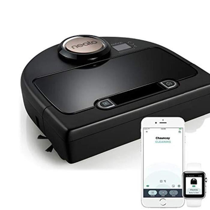 Neato Botvac Connecté DC02 Wifi - Aspirateur Robot Intelligent avec app & système de navigation laser - Aspirateur haute