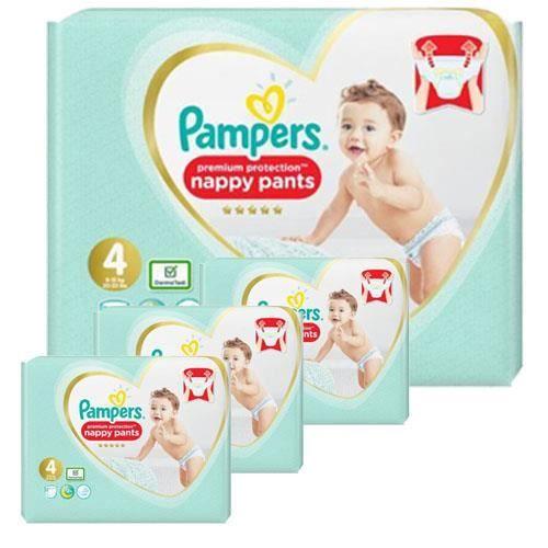 Pampers - 114 couches bébé Taille 4 premium protection pants