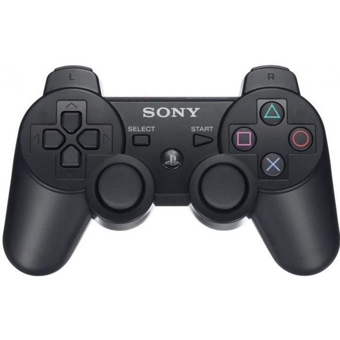 Manette PS3 Black Sony 9174097 Dualshock 3 Wireless Contrôleurs de Jeux et Accessoires (Noir) - -