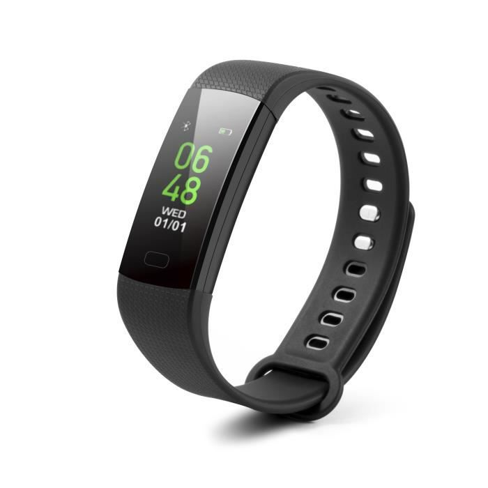 Technaxx Bracelet de fitness connecté avec fréquence cardiaque, mesure de la tension artérielle et affichage couleur