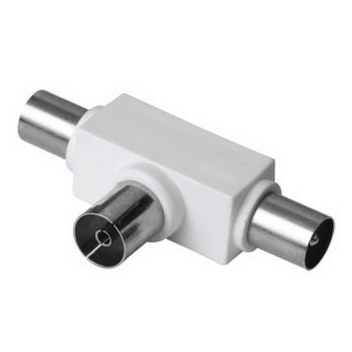 THOMSON-Répartiteur d´antenne, prise coaxiale- 2 fiches coaxiales
