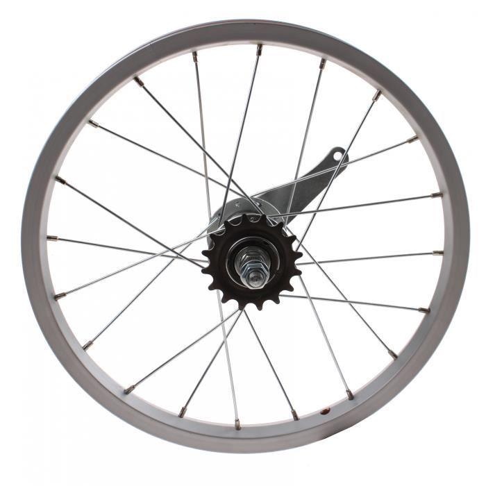 TOM roue arrière 16 x 1.75 pouce frein à rétropédalage aluminium argenté