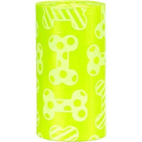 Sacs à déjections canines Parfum citron Taille : M contenu : 8rouleaux à 20ST. Couleur : jaune