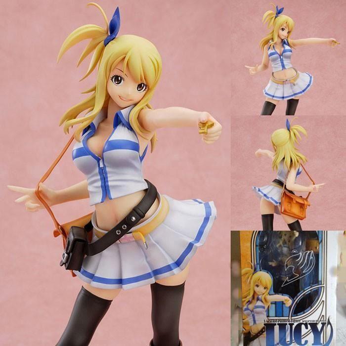 nouvelle 23cm PVC fées dessin animé Fairy Tail figurines figurines et jouets d'anime queue coeur Lucy Phil IA