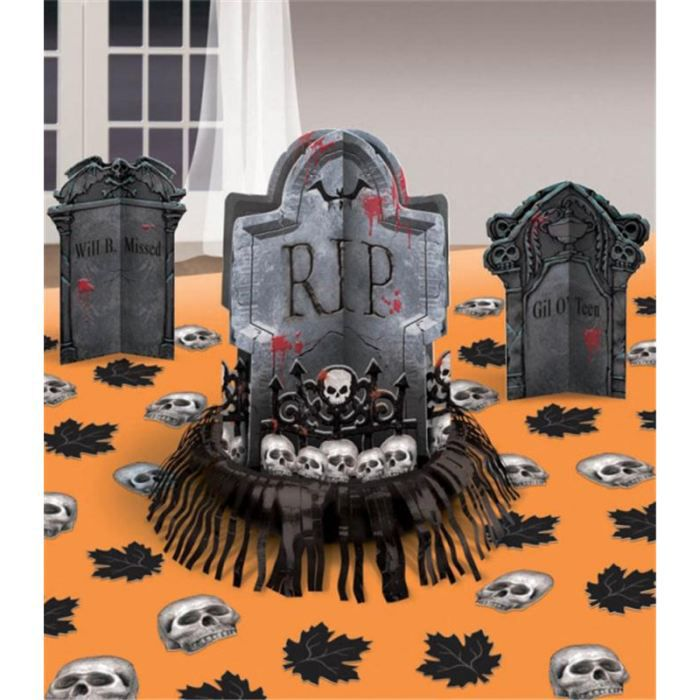 D coration de table halloween cimeti re achat vente for Decoration de table halloween