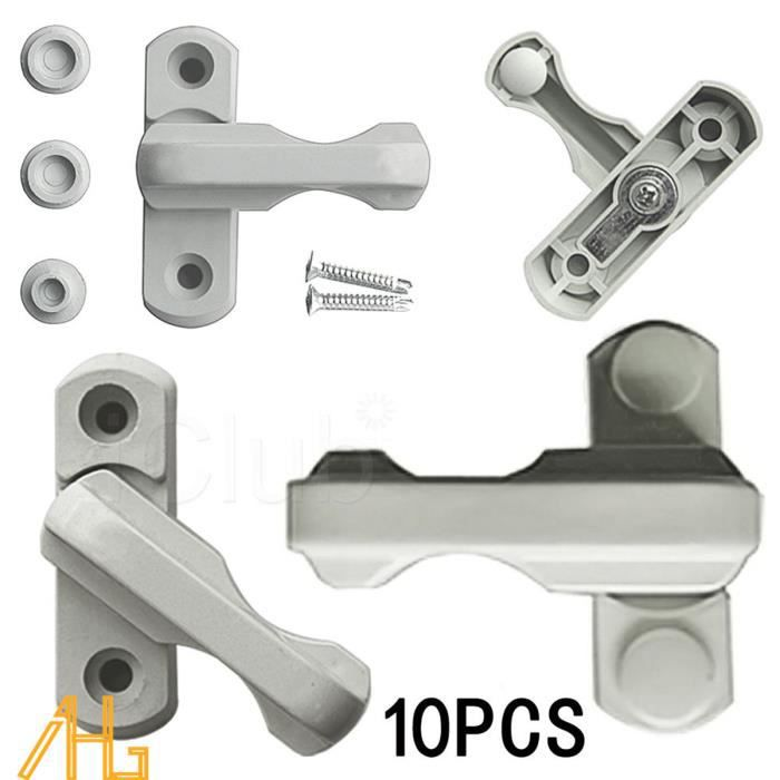 10pcs serrures bloque poign e pour porte fen tre s curit for Bloque fenetre securite
