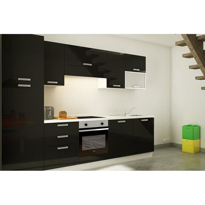 lyra noir cuisine quip e tout inclus 303 cm achat. Black Bedroom Furniture Sets. Home Design Ideas