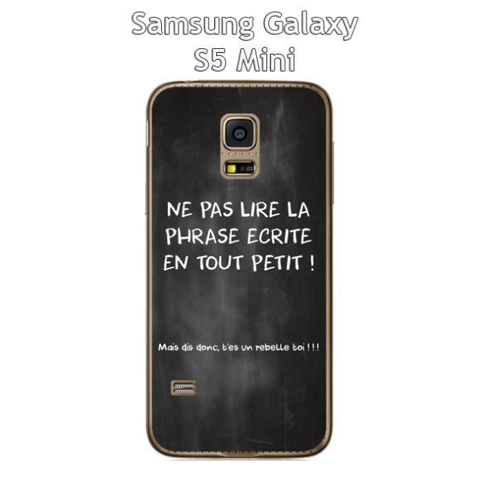 coque samsung galaxy s5 mini citation tableau 3 achat. Black Bedroom Furniture Sets. Home Design Ideas