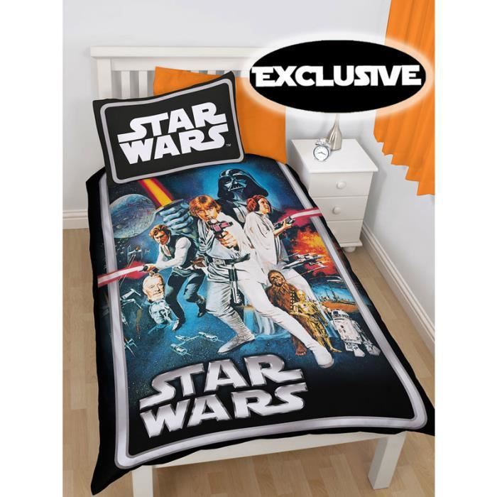 parure de lit star wars poster achat vente parure de. Black Bedroom Furniture Sets. Home Design Ideas