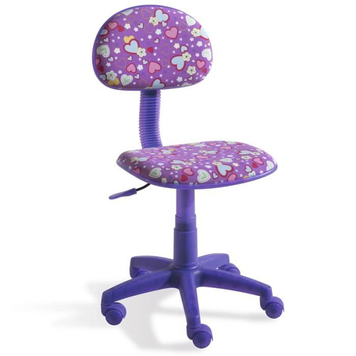 chaise de bureau enfant violet achat vente chaise de bureau enfant violet pas cher cdiscount. Black Bedroom Furniture Sets. Home Design Ideas
