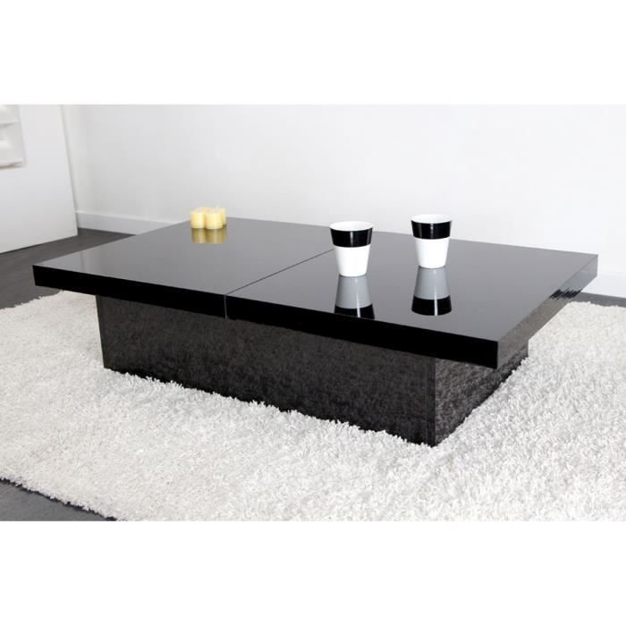 table basse design noire angie achat vente table basse. Black Bedroom Furniture Sets. Home Design Ideas