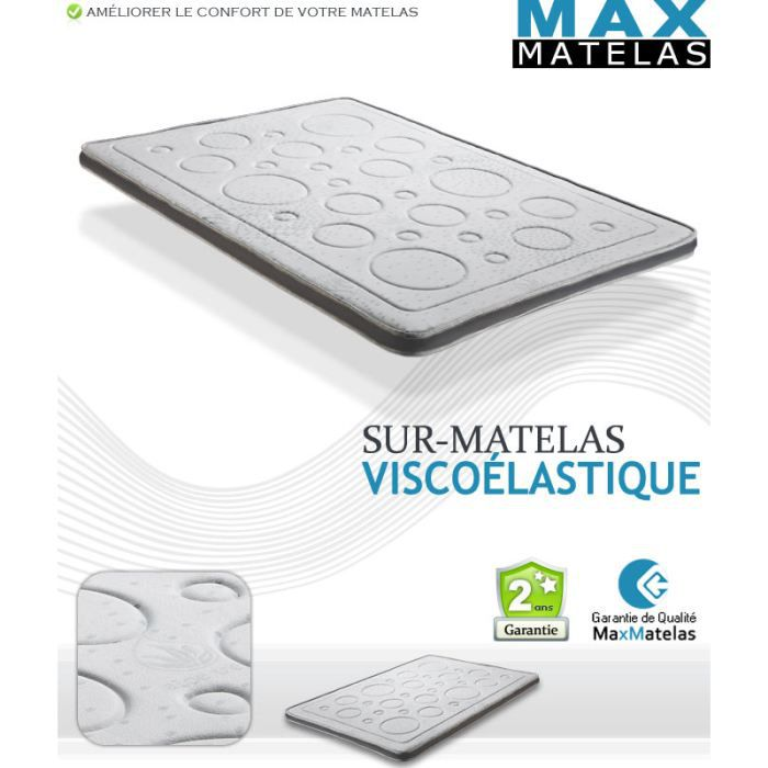 sur matelas visco lastique 120x190 achat vente sur. Black Bedroom Furniture Sets. Home Design Ideas