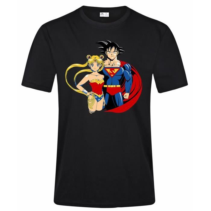 And Funny Sailor Graphique Printed Goku Superman Summer T Moon Shirt 5wqqaZA