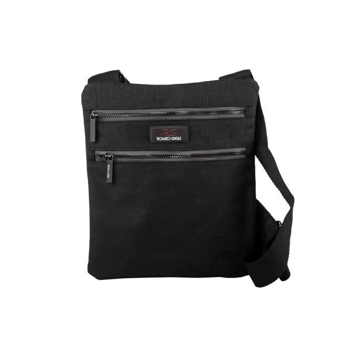 BESACE - SAC REPORTER Bandoulière homme ROMEO GIGLI noir sac sacoche pla f324fbbf6af
