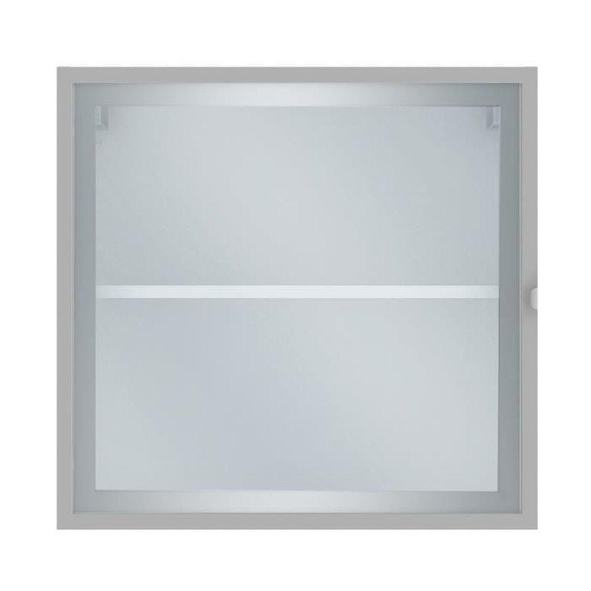 Elia Meuble de cuisine haut 12 porte vitrée blanc 12cm - Achat