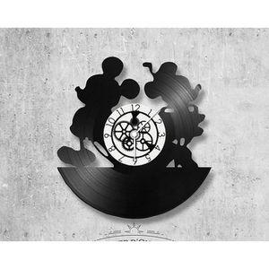 HORLOGE - PENDULE Horloge vinyle Minnie et Mickey parfait pour un an