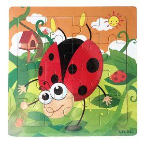 Puzzle En Bois De Dessin Animé Pour Enfants Coccinelle Pz541
