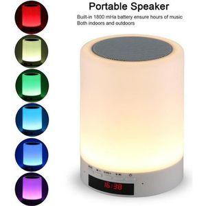 ENCEINTE NOMADE Enceinte portable Bluetooth,LED 7 couleurs Lampe d