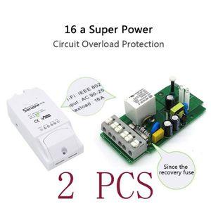 INTERRUPTEUR ÉLECTRO. LUXS 2pcs Sonoff Pow Interrupteur sans fil WiFi In