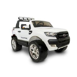 VOITURE ELECTRIQUE ENFANT EROAD - Ford Ranger Blanc 4X2 Noir 2 places - 12V