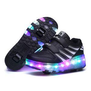 XOMAYI1 Mixte Enfants Chaussures /à roulettes 1Roue/&2 Roues Respirant Patins /à roulettes pour Fille Gar/çon Retractable Basket a Roulette Detachable Creative Gifts