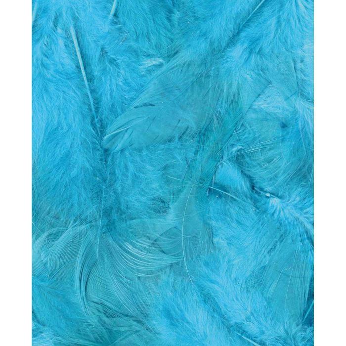 ARTEMIO Sachet de Plumes Turquoise