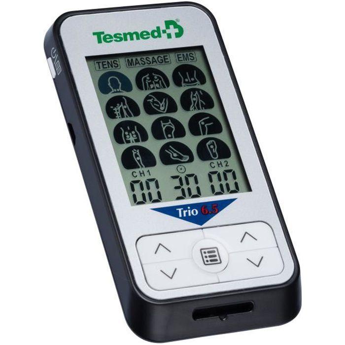 TESMED Trio 6.5 electrostimulateur musculaire, TENS douleurs, massage