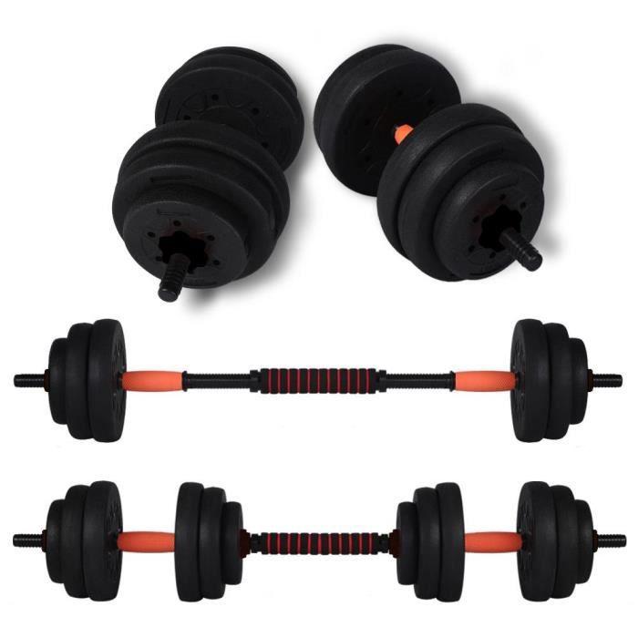 Ensemble de poids, haltères réglables de 20 kg Ensemble d'haltères de musculation Fitness Training Home HB43 HB010 -JNG