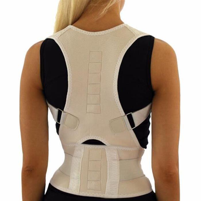 Correcteur Épaule Support Dos Ceinture Dorsale Soutien Correcteur de Posture Bande Redresse Dos Réglable Posture #XXL