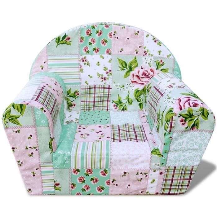 Fauteuils club, fauteuils inclinables et chauffeuses lits Fauteuil pour enfants Motif de fleurs