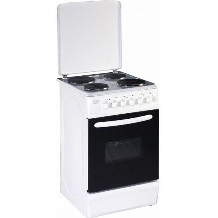 PKM EH4-50 GA, Cuisinière, Blanc, Rotatif, Devant, Plaque scellée, acier émaillé