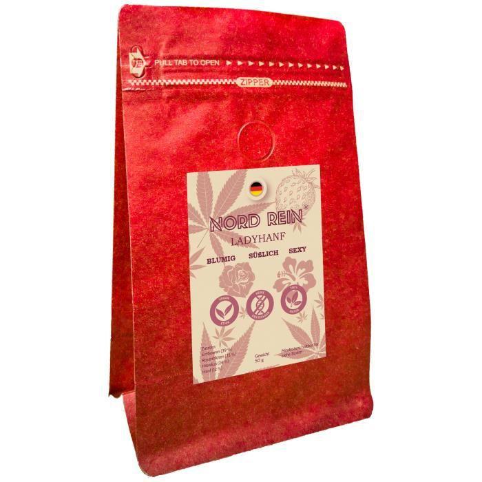 NORD REIN LADYHEMP Thé au chanvre, thé de relaxation en vrac - tisane naturelle pour s'endormir ou se détendre - sans additifs- 50 g