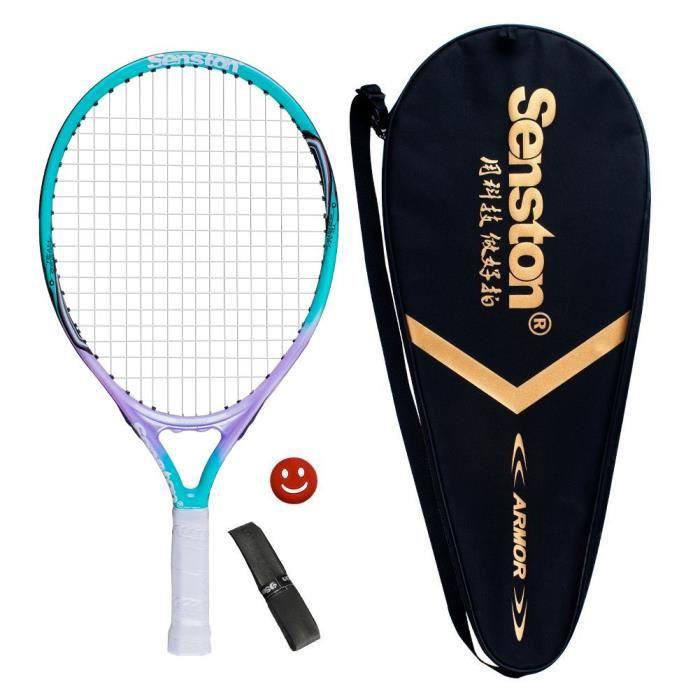 Senston Débutants Raquette de Tennis, Raquette de Tennis Enfants, y compris Sac de Tennis et Surgrip et Amortisseur de Vibrations