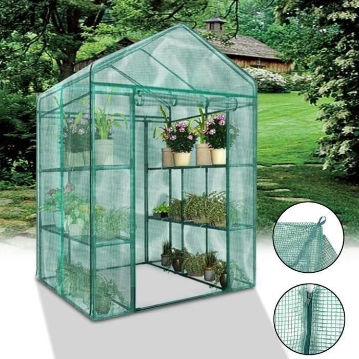 Couverture de Serre Plantes Verte Jardinage Anti-gel Anti-Insect Hiver Protection Soleil 69x49x160cm