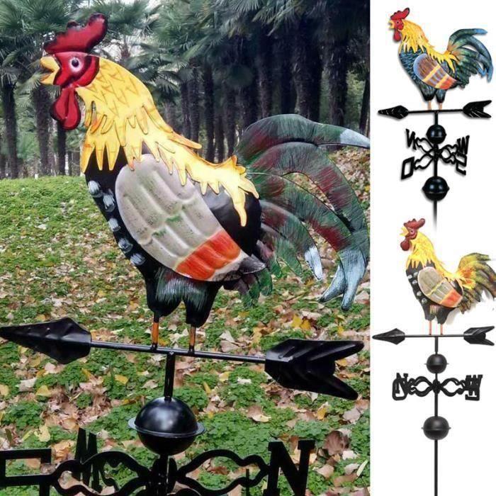 Girouette en métal avec ornement de coq décor de patio de jardin Girouette de coq Da37670