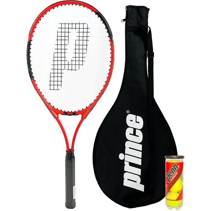 Prince Power Warrior Ti Raquette de tennis pour adulte avec housse de protection avec sangle de transport et 3 balles de tennis[98]