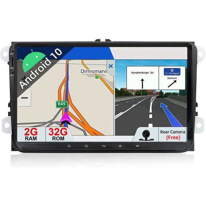JOYX Android 10.0 Double Din Autoradio Pour VW Golf-Skoda-Seat-Passat-Polo Navigation - 9 Pouce -Caméra & Canbus Gratuit - 2G+[10]
