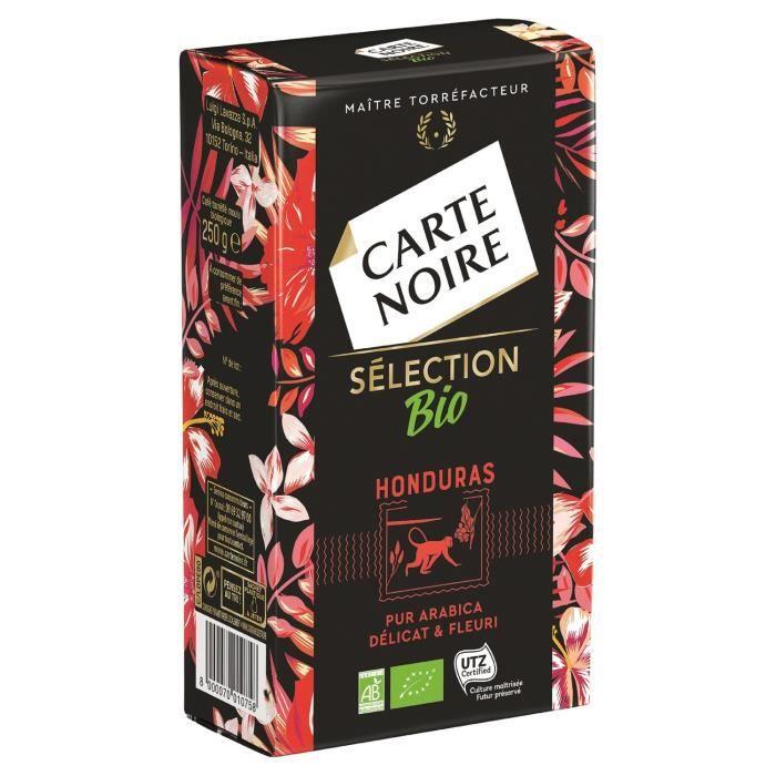 LOT DE 8 - CARTE NOIRE Café moulu Honduras bio - paquet de 250g