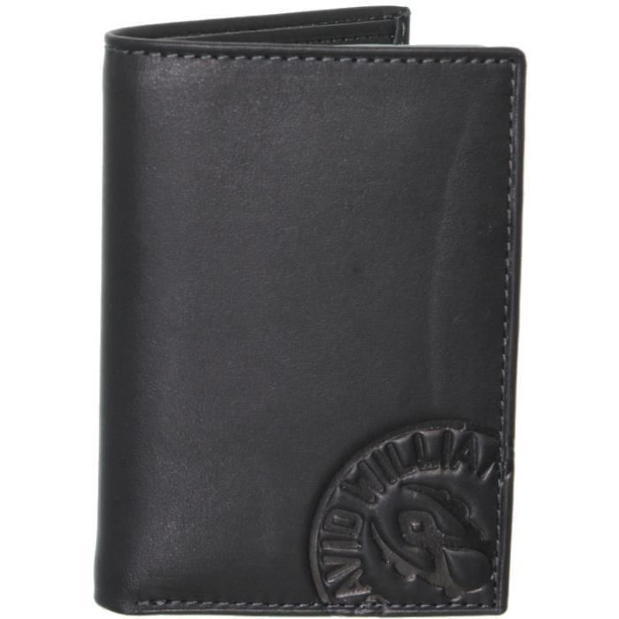 Porte-cartes David William en cuir ref_lhc37145-noir