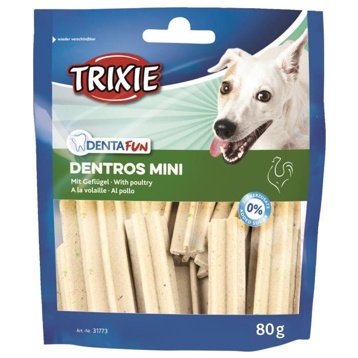 TRIXIE Dentros mini Denta Fun à la volaille - Pour chien - 80g