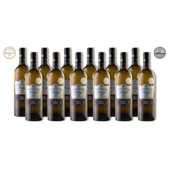 Lot de 12 bouteilles Vin Blanc Blaye Côtes de Bordeaux Domaine du Cassard – Cuvée Prestige- Médaille d'or & Médaille Argent