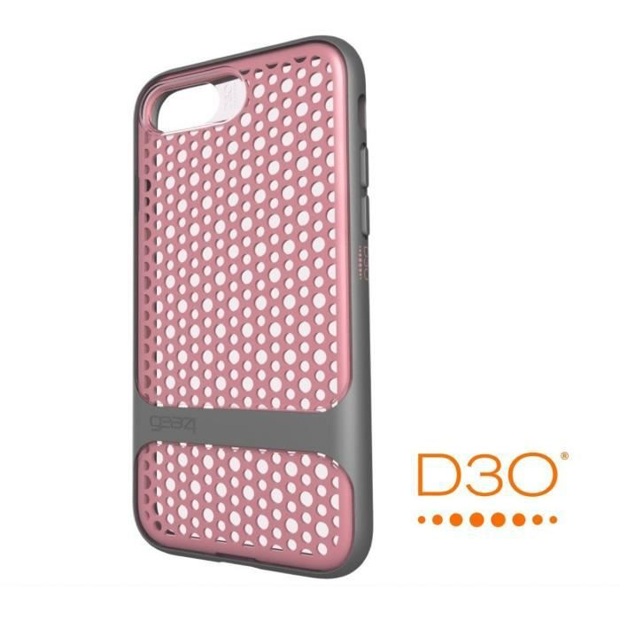 GEAR4 D3O Carnaby Coque - iPhone 7 - Gris rose