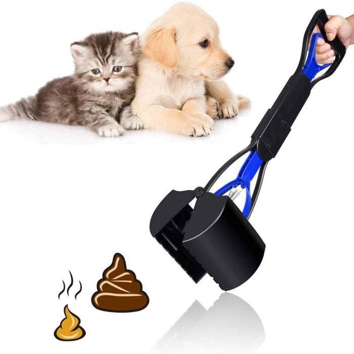 Gesentur pelle à déjections canines portable pour animaux domestiques , Pelle ramasse-déjections canines à mâchoires et manche long