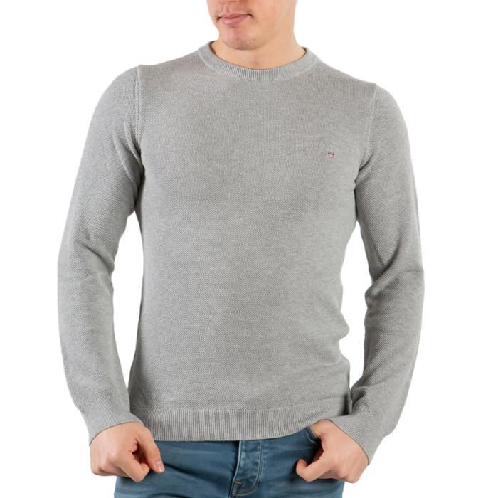 Gant Homme Pull Gris Col Rond